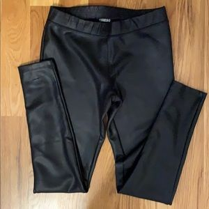 Size small Express pleather leggings.